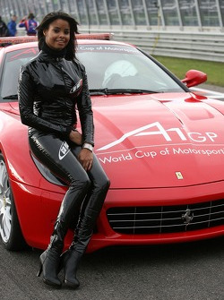 Ferrari Safety Car with a Grid Girl