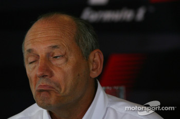 Ron Dennis, McLaren, Team Principal, Chairman with an odd facial expression