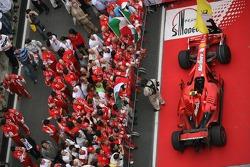 The Ferrari team