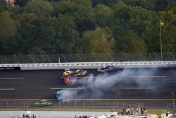 Multiple cars crash with Elliott Sadler, Tony Raines, Greg Biffle and Michael Waltrip