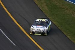 Race winner Jeff Gordon celebrates with a burnout