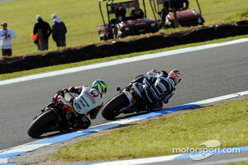 Marco Melandri and Alex Barros