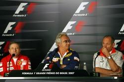 FIA press conference: Jean Todt, Scuderia Ferrari, Ferrari CEO, Flavio Briatore, Renault F1 Team, Team Chief, Managing Director and Ron Dennis, McLaren, Team Principal, Chairman