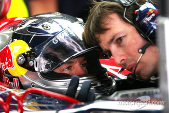 Sebastian Vettel, Test Driver, BMW Sauber F1 Team and John McGill