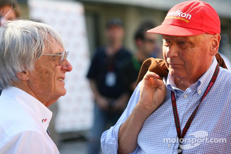 Bernie Ecclestone and Niki Lauda