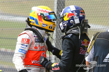 Lewis Hamilton and David Coulthard