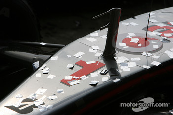 McLaren Mercedes, MP4-22 , covered in glitter