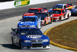 Kurt Busch leads Ryan Newman