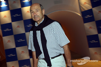 Team principal Peter Sauber arrive at the party