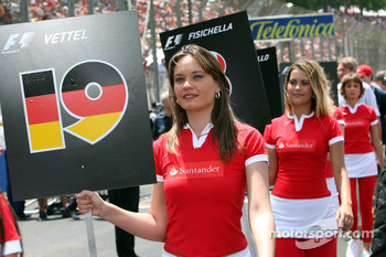 Grid Girl of Sebastian Vettel, Test Driver, BMW Sauber F1 Team