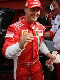 Michael Schumacher drives the Ferrari FXX