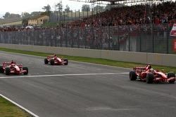 Felipe Massa, Kimi Raikkonen, Marc Gene and Luca Badoer