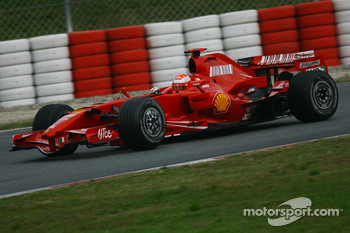 Michael Schumacher, Test Driver, Scuderia Ferrari, F2007, tests the Ferrari F2007