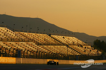 Sunset at F1 Testing