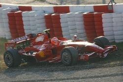 Michael Schumacher, Test Driver, Scuderia Ferrari, F2007 in the gravel