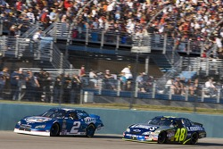 Kurt Busch leads Jimmie Johnson