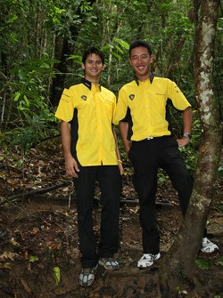Alex Yoong, driver of A1 Team Malaysia and Aaron Lim, driver of A1 Team Malaysia
