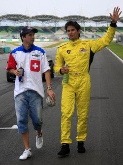 Neel Jani, A1 Team Switzerland with Alex Yoong, A1 Team Malaysia