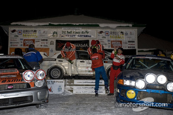 First (Antoine L'Estage, Nathalie Richard), second (Frank Sprongl, Brian Maxwell)and third place (Jan Zedril,Jody Zedril) for the National Driver class