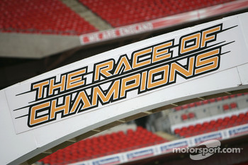 Friday, November 30: signage for the Race of Champions 2007