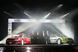 The Citroën C4 WRC, Daniel Elena, Sébastien Loeb, Malcolm Wilson, Jost Capito and the Ford Focus RS WRC