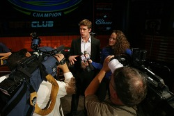 The 2007 NASCAR Busch Series champion Carl Edwards talked about his season with media inside the ESPN Club at Walt Disney World