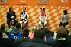 Press conference: Race of Champions winner Mattias Ekström with second place Michael Schumacher
