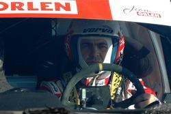 Orlen Team test at Chateau Lastour: Krzysztof Holowczyc