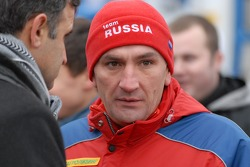 Kamaz-Master ceremonial start on the Red Square in Moscow: car category driver Leonid Novitskiy