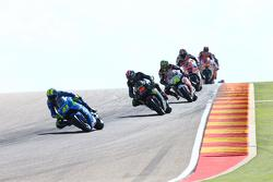 Aleix Espargaro, Team Suzuki MotoGP and Bradley Smith, Tech 3 Yamaha and Cal Crutchlow, Team LCR Honda