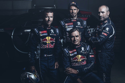 Sébastien Loeb, Cyril Despres, Carlos Sainz and Stéphane Peterhansel