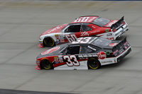 Austin Dillon, Richard Childress Racing Chevrolet and Chris Buescher, Roush Fenway Racing Ford