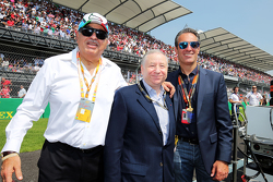 Jean Todt, FIA President with Carlos Slim Domit, Chairman of America Movil and guest on the grid
