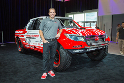 Team principal Jeff Proctor with the Honda Ridgeline Baja race truck
