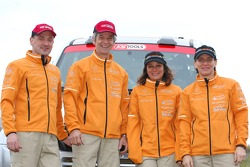 Team Fleetboard Dakar Leipzig presentation: Ellen Lohr and Antonia De Roissard, Stephan Schott and Holm Schmidt