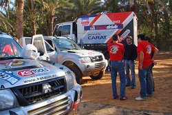 Team Fleetboard Dakar training in Tunisia:  Ellen Lohr