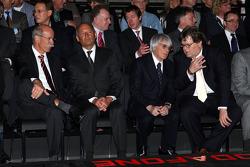 Dr. Dieter Zetsche, Chairman of Daimler, Ron Dennis, Bernie Ecclestone and Norbert Haug