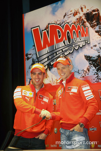 Wrooom 2008 press conference: Marco Melandri and Casey Stoner