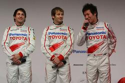 Timo Glock, Jarno Trulli and Kamui Kobayashi