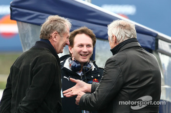 Helmut Marko, Red Bull Racing, Red Bull Advisor, Christian Horner, Red Bull Racing, Sporting Director and Dietrich Mateschitz, Owner of Red Bull
