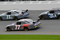 Denny Hamlin, Sam Hornish Jr. and Jeff Burton