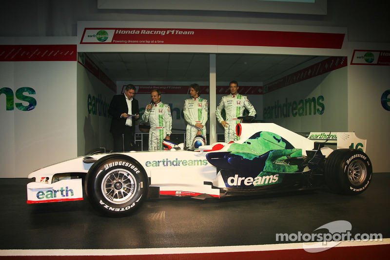 Rubens Barrichello, Honda Racing F1 Team, Jenson Button, Honda Racing F1 Team, Alexander Wurz, Test Driver, Honda Racing F1 Team