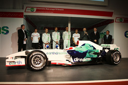 Rubens Barrichello, Honda Racing F1 Team, Jenson Button, Honda Racing F1 Team, Nick Fry, Honda Racing F1 Team, Chief Executive Officer, Ross Brawn Team Principal, Honda Racing F1 Team, Yashurio Wada, Honda Racing Development Ltd, President, Alexander Wurz