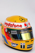 Helmet of Lewis Hamilton, McLaren Mercedes