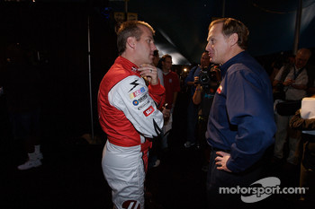 Jeremy Mayfield and Rusty Wallace