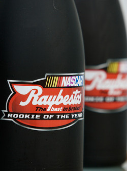 Bottles of champagne for the six contenders for the Raybestos Rookie of the Year