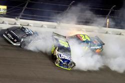 Ryan Newman, Jeff Gordon and Jimmie Johnson crash