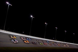 Dale Earnhardt Jr. and Dave Blaney lead the field on a restart