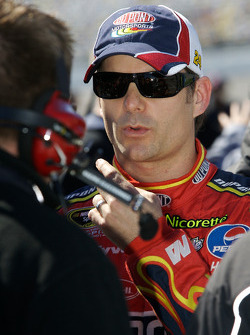 Jeff Gordon after his qualifying run
