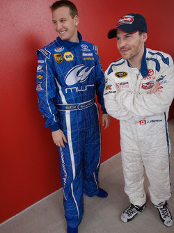 Raybestos Rookie of the Year radio-controlled car race event: Michael McDowell and Jacques Villeneuve
